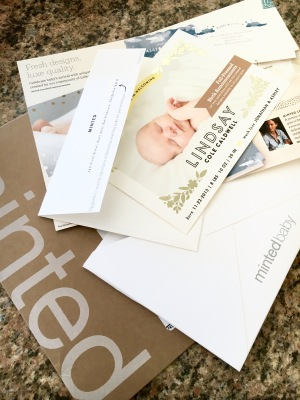 Minted baby announcements