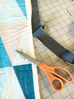 Quilt edge trim