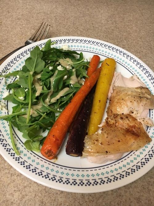 Chicken:carrots:salad
